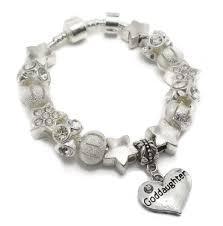 Goddaughter Charm Goddaughter Star Dust Childrens Silver Charm Bracelet 18cm
