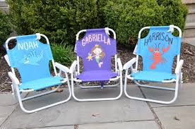 Personalized Kid Chair Personalized Kids Beach Chair 12371