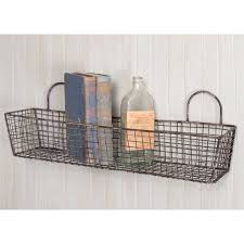 Bathroom Wall Baskets French Bakery Wire Wall Basket A Cottage In The City