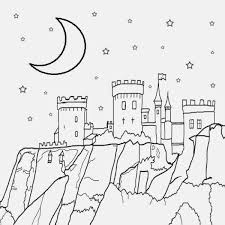 half moon coloring page 28 images half moon coloring pages
