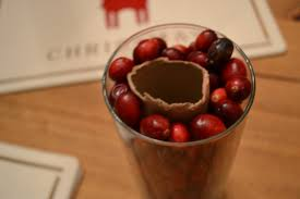 decor cranberry cheap christmas centerpieces on glass vase for
