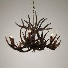 Candelabra Light Fixtures Natural Resin Moose Antler Large Chandelier With 10 Candelabra Lights