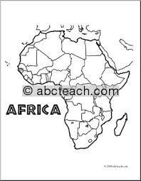 download map of africa coloring page