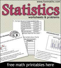 statistics worksheets u0026 problems printable math worksheets for