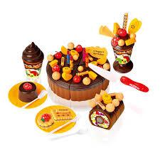 anniversaire cuisine jouer alimentaire 73 pcs miniature cuisine fraise saveur gâteau