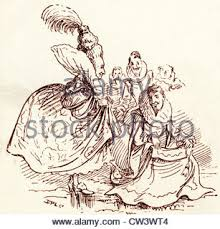 comic sketch by t s seccombe showing sir walter raleigh stock