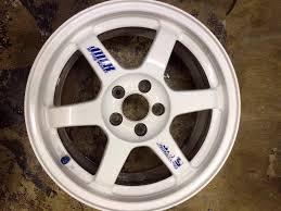 lexus wheels powder coated volk racing rims pre owned rays te 37 forged jdm white powder