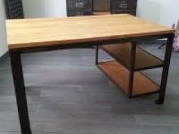 bureau bois acier bureau bois et acier par orangemetalic
