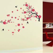plum blossom flower bird removable wall decal sticker art mural