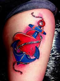heart anchor tattoo by alans tattoo studio