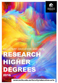 faculty of education and arts research higher degrees 2016 by