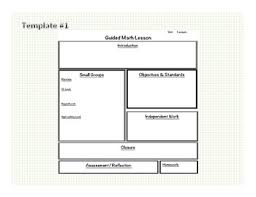 math guided math blank templates u0026 lesson plan examples lesson