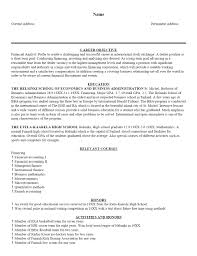 Sample Resume Format Of Fresh Graduate by Sample Resume New Graduate Accounting Templates