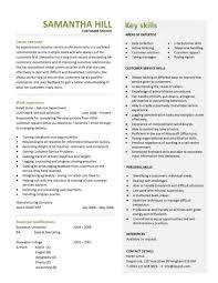 Great Customer Service Resumes Extraordinary Design Resume Customer Service Skills 5 Cv Resume