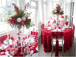 Christmas Table Decoration Ideas by Christmas Table Decorations Red And White Bibliafull Com