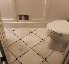 powder room renovation w marble tile floor monk s nj