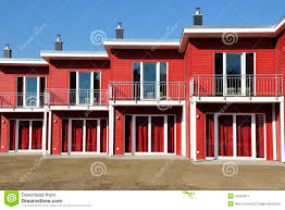 House Front View Red Terraced House Front View Royalty Free Stock Photography