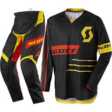 clearance motocross gear scott 2017 mx new 350 dirt black yellow jersey pant dirt bike
