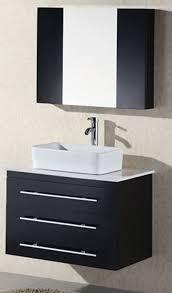 Vanities With Vessel Sinks Design Element Elton Wall Mount Single Vessel Sink Vanity With