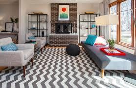 living room impressive pouf ottoman in living room midcentury