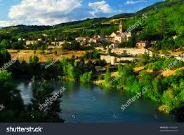scenic view on town sisteron provence stock photo 12642295