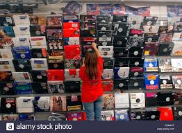 photo albums nyc vinyl albums at beat records in in nyc stock photo