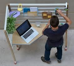 Small Table For Standing Desk Pared Down Customizable Standing Desk Folds Flat For Small
