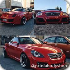 lexus rcf widebody lexus sc430 with hand fit v vision wide body kit and color change