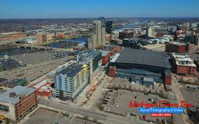 Photographers In Grand Rapids Mi Arena Place In Grand Rapids Construction Aerial Drone Photos