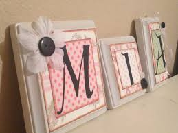Handmade Nursery Decor Ideas Handmade Nursery Name Letters Baby Nursery Name Letters Options