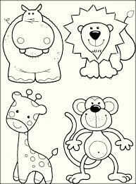 realistic animal coloring pages realistic zoo animals coloring pages for kids color zini