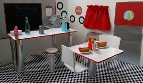 american doll dining table fun with ag fan 50 s diner inspired by our generation retro diner