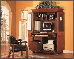 Computer Desk Armoire Furniture Attractive Desk Armoire For Home Office Decoration