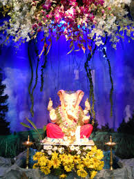 temple decoration ideas for home trendy ganpati thermocol with