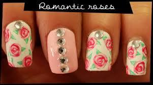 romantic roses nail art youtube