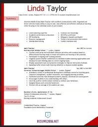 Latest Resume Format Teacher Resume Examples 2016 For Elementary