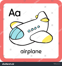 colorful cartoon cute toy airplane sky stock vector 301071698