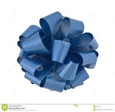 big ribbon big blue ribbon bow cutout stock image image of single 7342427