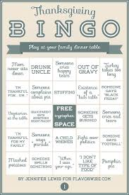 exclusive thanksgiving bingo for your dinner table flavorwire