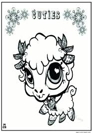 cuties littlest petshop coloring pages free 5