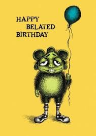 birthday cards belated birthdays bald guy greetings