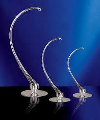 radko 2010537 18 silver glass ornament stand
