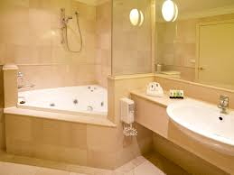 Spa Bathroom Design Corner Bathtub Ideas Impressive White Corner Bathtub With Lovely