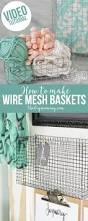 diy home decor gifts make wire mesh baskets of any size video the diy mommy