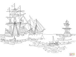 christopher columbus ships coloring pages worksheets columbus day