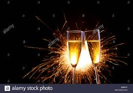 new years chagne glasses sparkling new years chagne glass toast stock photo