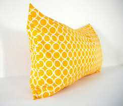 Bolster Cushion Pad Mustard Yellow Long Bolster Pillow Bohemian Decorative Pillows
