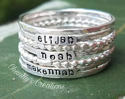 mothers ring with names mothers ring etsy
