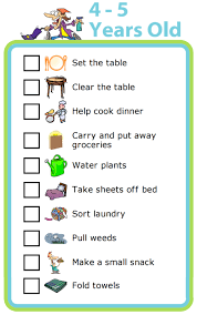 water table for 5 year old free printable chores for 4 5 year olds the trip clip blog