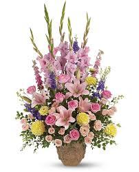 basket arrangements sympathy vase basket arrangements archives pesche s